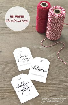 Free printable Christmas tags                                                                               More