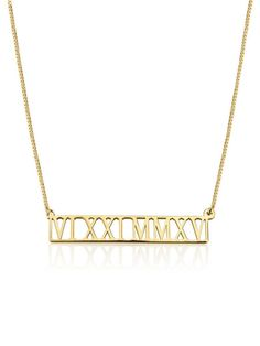 This beautiful bar necklace is meaningful and special with elegant roman numerals cut out in it. Remember a special date or time and cherish the moment forever. Makes for a perfect sentimental gift.