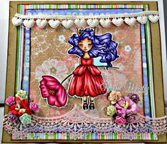 Little Blue Button Stamps: Princess with Poppy