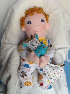 Baby Boo PDF Cloth Doll Pattern Great Beginner by PeekabooPorch, $9.00