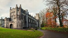 Tree and Castle Photography Backdrop Fall Green Lawn Photo Background Beautiful Places In The World, Most Beautiful, Kilkenny Castle, Castles In Ireland, Scottish Castles, Ireland Vacation, Medieval Castle, Winter Travel, Photo Backgrounds