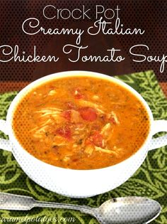 Creamy Italian Chicken Tomato SoupYou can find Italian chicken soup and more on our website. Chicken Tomato Soup, Creamy Italian Chicken, Tomato Gazpacho, Gazpacho Soup, Best Ramen Noodles, Ramen Noodle Recipes, Summer Soup Recipes, Crockpot, Food To Make