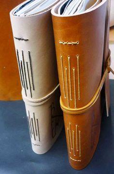 Boekbinden - Langsteek binding on Pinterest | Leather Journal…