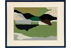 c. 1960 Abstract Silkscreen