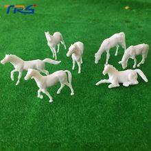 Hot sale 1;87 miniature farm animals model white plastic scale model horse(China (Mainland))