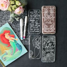 DIY Hand Lettering on Cell Phone Cases