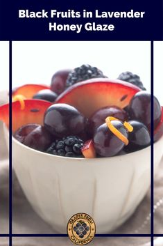 Try this easy, fresh, and healthy, black fruit salad recipe with honey for breakfast, or even dessert! Don't forget that grapes are berries! So go with grapes from California in your berry fruit salads. #easy #fresh #parties #healthy #simple #withhoney #berry #fruitsaladrecipe #breakfastfruitsalad #fruitsalad #fruitsaladhealthy #fruitsalads #blackfruit #glutenfreerecipes #glutenfreedairyfreerecipes #dairyfreerecipes #cleaneatingrecipes #cleaneating #vegetarianrecipes #lowsodiumrecipes Grape Recipes, Fruit Salad Recipes, Fruit Salads, Honey Recipes, Dairy Free Recipes, Clean Eating Recipes, Best Dessert Recipes, Fun Desserts, Breakfast Recipes