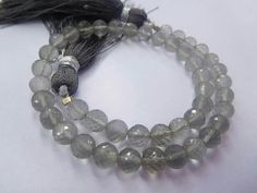 """FULL 8"""" STRAND NATURAL gray moonstone round shape ball beads 5 mm 50cts"""
