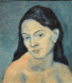 Pablo Picasso - Head of a Woman,1903 at New York Metropolitan Art Museum