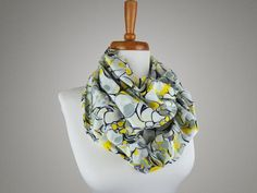 Handmade Yellow Marble Print Infinity Scarf from maxandrosie.co.uk