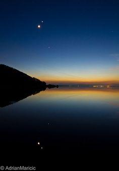 Twilight conjunction tonight of the Moon, Jupiter and Venus - Kinross