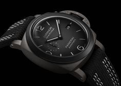 *Blog Update - Read iN!* #Panerai 44mm Luminor Guillaume Néry Edition⌚️🌊 DLC-Titanium Case with Black Recycled PET & White Rubber Strap!!🎉 #GuillaumeNery