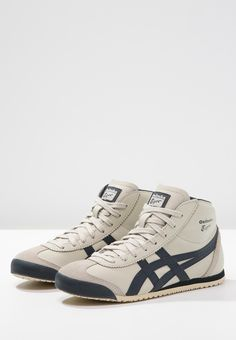 Onitsuka Tiger MEXICO MID RUNNER - High-top trainers - birch/indian ink for Free delivery for orders over Wear You Out, How To Wear, Onitsuka Tiger Mens, Martial Arts Shoes, Tiger Shoes, Retro, Asics, Work Wear, High Tops