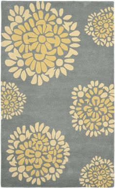 Rushden Hand-Tufted Cement Area Rug