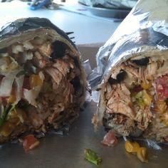 chicken fajita burritos...om NOM!