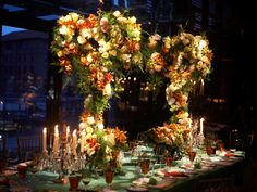 Floral canopy over the bridal table... exquisite!!