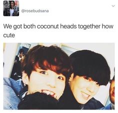 Two coconut heads is better than one! BTS GOT7 Yugyeom Jungkook
