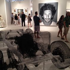 Nicholas Metivier Gallery booth at Art Miami