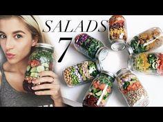 Meal Prep With Me: 7 Mason Jar Salads - YouTube