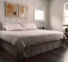 Rough Linen™ bedskirt