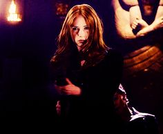 Karen Gillan's best Amy Pond moments in Doctor Who - Weeping Angels? Leaving the Doctor? Arriving as a kissogram in a police uniform? What's her best bit? Amy Pond the Merciless (The Wedding of River Song)/ Doctor Who Amy Pond, Bbc Doctor Who, 11th Doctor, Geronimo, Smallville, Amy Pond Hair, Amy Pond Aesthetic, Rose Tyler Outfit, Amy Pond Outfit