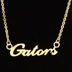 Florida Gators Gold Script Necklace