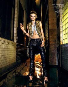 nikolay rock roll shoot7 Billard Electrique: Yulia Musieichuk is Rocker Chic for Schon by Nikolay Biryukov