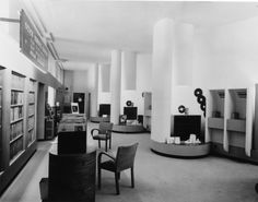 Interior of the His Master's Voice music shop at 363 Oxford Street, 1946.