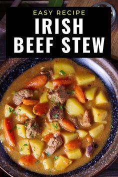 This Guinness Irish beef stew is the ultimate comfort food. So easy to make in one pot and the kind of food you want on a cold day. #comfortfood #stew #irishrecipes Irish Recipes, Beef Recipes, One Pot Meals, Easy Meals, Irish Beef, Magic Recipe, Key Lime Pie, Comfortfood, Winter Months
