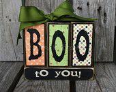 Boo wooden blocks