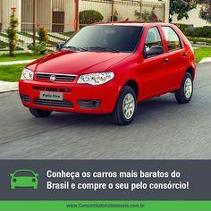 Quem está em busca de economia e quer encontrar um carro barato tem algumas opções disponíveis no mercado brasileiro.  Qualquer uma delas pode ser adquirida através de parcelas facilitadas e sem juros por meio do consórcio! Veja: https://www.consorciodeautomoveis.com.br/noticias/conheca-os-carros-mais-baratos-do-brasil?idcampanha=206&utm_source=Pinterest&utm_medium=Perfil&utm_campaign=redessociais