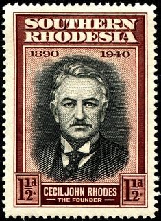 1940 founder of the Rhodes Scholarship Old Stamps, Rare Stamps, Zimbabwe History, Union Of South Africa, Crown Colony, Postage Stamp Art, Penny Black, British, Stamp Collecting