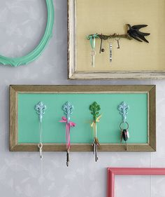 Use a Picture Frame as a Key Organizer