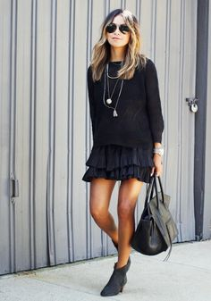 Sincerely Jules Street Style Black Skirt