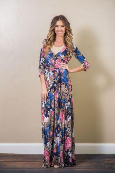 Sicily Floral Wrap Dress