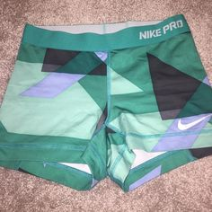 Nike pro spandex Worn spandex fun print! No stains. The swoosh is peeling a little. Nike Shorts