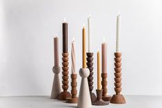 Wooden Candlestick - Maple - Hobbies paining body for kids and adult Wooden Candlestick Holders, Modern Candle Holders, Ceramic Oil Burner, Wood Turning Projects, Candle Stand, Wood Plans, Candels, Candlesticks, Wood Crafts