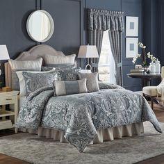 Croscill Gabrijel Chenille Jacquard Woven Damask 4-piece Comforter Set - Free Shipping Today - Overstock.com - 19602768 - Mobile