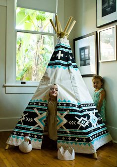 Lil' Squanto Teepee screen printed sewn & constructed by lovelane