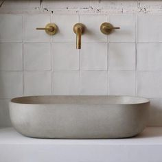 Rho Concrete Basin | Bert & May. Love the tiles and taps but I'd like a…