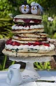 wedding cake- this stack of pancakes look oh-so-yummm! :)