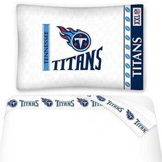 NFL Tennessee Titans Bed Sheets Set Football Bedding: Queen