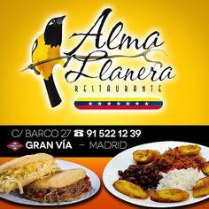 Y tú has venido al Restaurante Alma Llanera?  Que está en todo el centro de…