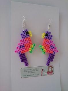 Bird earrings Hama beads by Mrs Bead