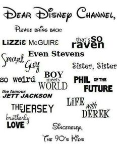 90's kids..too bad my kids will never get to watch the good Disney shows