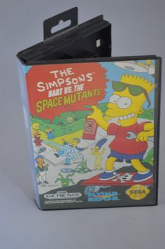 Sega Genesis Video Game Cartridge: The Simpsons by FloridaFinders Save Your Money, Sega Genesis, The Simpsons, Video Game, I Shop, Gaming, Posters, Etsy, Videogames