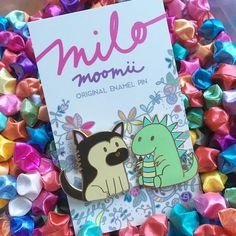 #Repost @milomoomii  More happy mail heading off to their new homes on the other side of the world  Featuring Milo the pupper and Moomii the dino! Get your own via the shop link in profile or here: http://ift.tt/2lcK3Xx    (Posted by https://bbllowwnn.com/) Tap the photo for purchase info.  Follow @bbllowwnn on Instagram for great pins patches and more!
