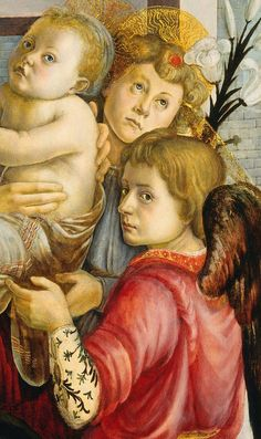 """Madonna with Child and Angels"" (Détail), c.1465-70, Sandro Botticelli (attributed)."