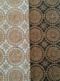 Moroccan Lace cork board, available in black or white