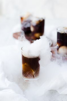 Smoking, crisp cold homemade root beer. It's easy and such a crowd pleaser. The kids go crazy for the dry ice fog effect! Make it for any holiday!